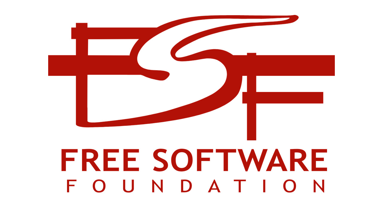 The logo of the Free Software Foundation