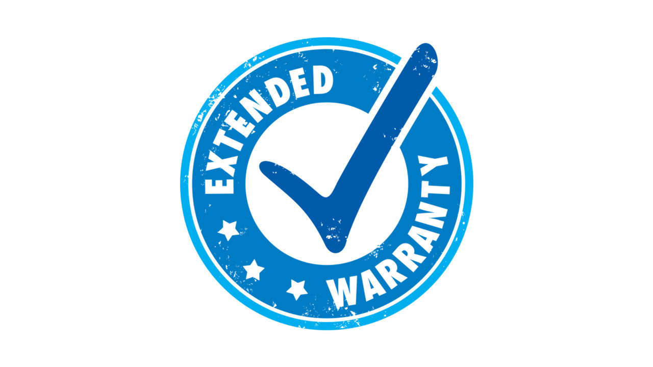 Clipart of an 'EXTENDED WARRANTY' stamp