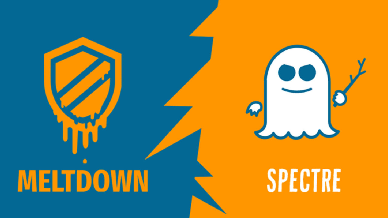 The logos for the Meltdown and Spectre security vulnerabilities