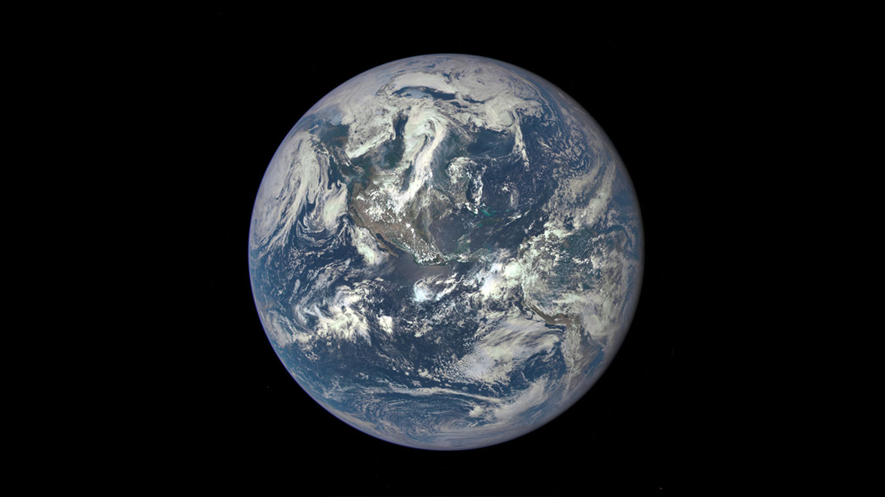 "The famous ""Blue Marble"" photograph of planet earth seen from space"